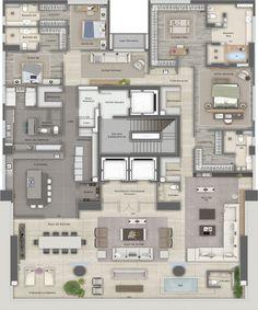 L'Essence Apartment Floor Plans, House Floor Plans, Suites, Pent House, Home Interior Design, Layout, House Design, Flooring, Apartments