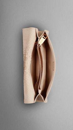 Nude Python Clutch Bag | Burberry