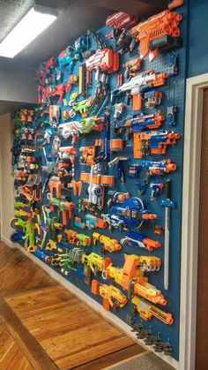toy rooms Our Nerf/Blaster Wall At Work