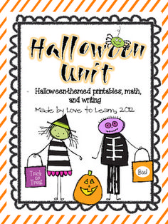 Halloween Unit - Fun Printables, Math, and Writing | Love to Learn | {2-4}