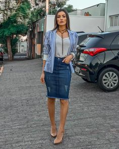 How To Wear Denim Skirt Outfits Jean Shirts 46 Ideas For 2019 Modest Outfits, Modest Fashion, Summer Outfits, Casual Outfits, Cute Outfits, Fashion Outfits, Modest Wear, Fashion Trends, Fashion News