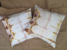 Hand Dyed Silk Pillow Cover (Shibori and Tie Dye techniques)