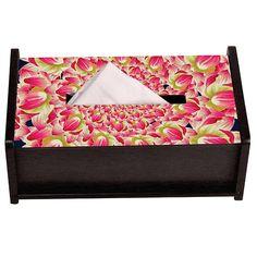 Kaleidoscope Flower Lotus Tissue Box Holder by The Elephant Company