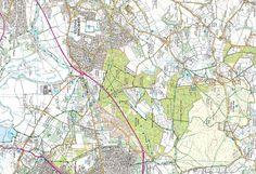 Wimborne Minster, Pamphill, Kingston Lacy, Ferndown & Holt Heath - back of the map
