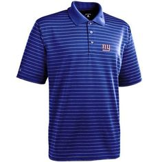 NFL Antigua New York Giants Elevate Polo - Royal Blue