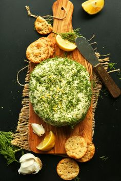 EASY, creamy vegan cheese infused with lemon, garlic, dill, and nutritional yeast for that extra cheesy flavor. Soft, spreadable, delicious.
