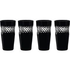 Waterford John rocha black cut shot glass, set of 4 found on Polyvore