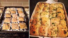 Bolognese Ravioli & Pull Apart Garlic Bread