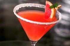 Rubytini:  6 ounces Ocean Spray® Ruby Red Grapefruit Juice Drink3 ounces lemon Flavored VodkaGrapefruit wedge, garnish