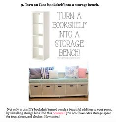 Ikea Bookcase To Bench