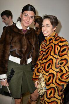 Giovanna Battaglia and Delfina Delettrez Fendi