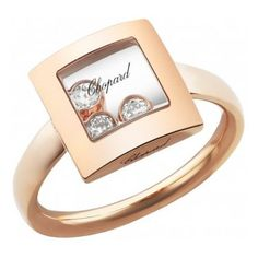 Chopard Bague Happy Diamonds Icons Or Rose 18K Et Diamants ...