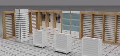 Ahşap ve Tekstil Raf sistemleri www.rafso.com Textile shelf #Mağaza rafları Retail Store Design, Retail Shop, Liquor Shop, Storing Clothes, Design Exterior, Pharmacy Design, Kitchen Room Design, Mobile Shop, Visual Display