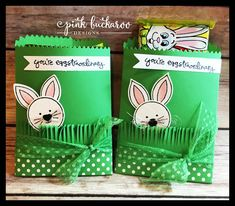 Friends and Flowers, Greatest Greetings and Mini Treat Bag Thinlit by Stampin' Up Easter Treats @Pink Buckaroo Designs
