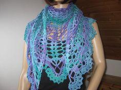 Dreieckstuch, Schal, Baumwolle, Dreiecktuch, Stola von IDS-Style auf DaWanda.com
