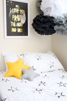 Painted stars - Fitted sheet