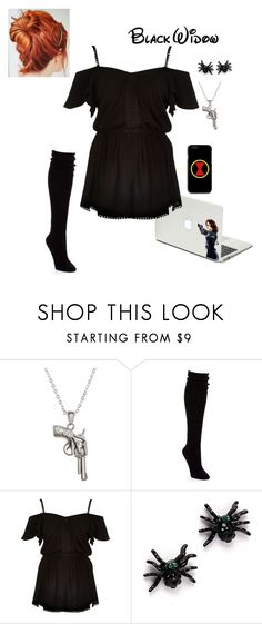 """Marvel Lazy Day - Black Widow"" by briony-jae ❤ liked on Polyvore featuring La Preciosa, Hue and River Island"