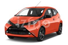 Front View of Orange2015 Toyota Aygo X-Cite 2WD MT Micro Car