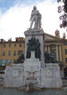 Monumento a Giuseppe Garibaldi. # Nice, França.  Cidade natal.