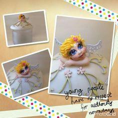 Pote Anjo Porcelana Fria.... www.crisbiscuitt.com.br