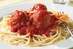 Meatballs made without meat? Yup—and they're delicious over spaghetti. Just another Healthy Living recipe the whole family will enjoy!