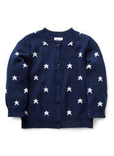 Baby Girls Knitwear & Jumpers | Bg Little Star Cardigan | Seed Heritage