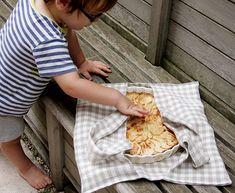 Linen Pie Carrier Tote Tutorial