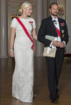 Norwegian Royals hosted a gala dinner at the Royal Palace