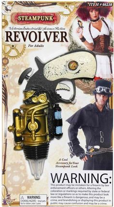 Steampunk Revolver...read the disclaimer...it's a hoot, and yet it's sad that it is necessary at the same time...