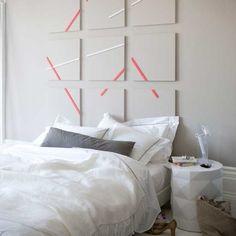 Make headboard panels using washi tape. 56 Adorable Ways To Decorate With Washi Tape