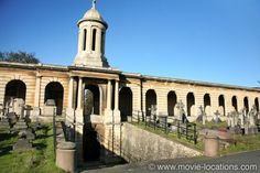 Sherlock Holmes film location: Brompton Cemetery, Old Brompton Road, London SW5. The 'Blackwood' family vault, from which Lord Blackwood (Mark Strong) appears to have risen in Guy Ritchie's 2009 version of Sherlock Holmes, is screen favourite Brompton Cemetery, near West Brompton station, West London. Look out for its gloriously decayed Victorian extravagance in GoldenEye, Stormbreaker and David Cronenberg's Eastern Promises. http://www.movie-locations.com/movies/s/SherlockHolmes2009.html
