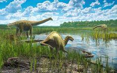 Así vivían dinosaurios y cocodrilos en el yacimiento de Lo Hueco en Cuenca   Vía Amazings - NCYT   #dinosaurios #cocodrilos #yacimientolohuenco #cuenca #animalesextinguidos #eZOO