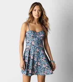 AEO Printed Corset Dress - Free Shipping