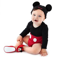 Nicolas' outfit for Disney Mickey Mouse Disney Cuddly Bodysuit Set for Baby - Personalizable Micky Mouse Bebe, Fantasia Mickey Mouse, Disfraz Mickey Mouse, Mickey Mouse Costume, Mickey Mouse Outfit, Cute Kids, Cute Babies, Baby Kids, Baby Boy