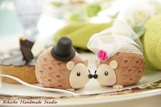 Topper de la torta del erizok764 por kikuike en Etsy
