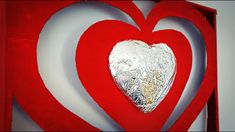 Wall hanging craft from lid box and aluminium foil | Easy Valentine's Da...