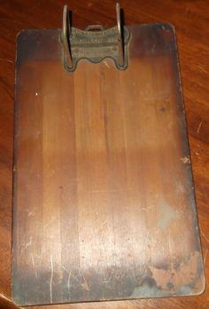 Vintage 1920's Wood Oak CLIPBOARD w/ Hole Puncher BUXTON & SKINNER STA. CO. OLD | eBay