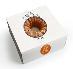 Creative bakery packaging for The Four Fat Ladies