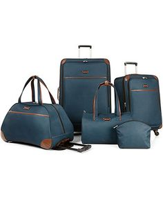 Nine West Round Trip 5 Piece Luggage Set - Luggage Sets - luggage - Macy's Bridal and Wedding Registry