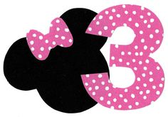Minnie Mouse applique with bow and number iron on by patternoldies