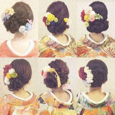 和装ヘアまとめ #ヘア #ヘアメイク #ヘアアレンジ #結婚式 #結婚式ヘア #振袖 #ブライダル #ウェディング #和装ヘア #バニラエミュ #セットサロン #ヘアセット #アップスタイル #ヘアスタイル #プレ花嫁 #着物#前撮り #浴衣 #和装 #撮影 #花 #成人式#色打掛#kimono #photo #cute #hair #wedding #beauty #hairmake Party Hairstyles, Wedding Hairstyles, Cool Hairstyles, Wedding Hair And Makeup, Bridal Hair, Up Styles, Hair Styles, Wedding Kimono, Japanese Wedding
