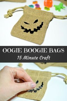 Oogie Boogie Treat Bags: Create these Nightmare Before Christmas party favor bags in 15 minutes with your Cricut Maker or Explore Air