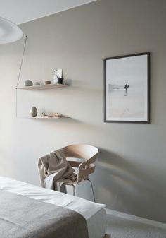 Light grey apartment with pale wood - Hege in France