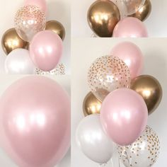 Pink Blush Balloons Baby Shower Wedding Birthday Pink Blush Gold by HullaballoonsParty on Ets. Pink Blush Balloons Baby Shower Wedding Birthday Pink Blush Gold by HullaballoonsParty on Etsy, shower ideas for a girl Pink Und Gold, Rose Gold, Blush And Gold, Blush Pink, Baby Girl Shower Themes, Girl Baby Shower Decorations, Baby Shower Parties, Pink Party Decorations, Baby Shower Sweets
