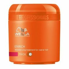 WELLA Enrich Moisturizing Treatment for Coarse Hair 5.07oz by Wella. $11.50. This luxurious treatment is formulated with shea butter and silk extracts and works to repair and nourish dry, weak hair. The concentrated formula leaves hair incredibly soft and shiny with a healthy, hydrated finish.. Tip: Use in conjunction with Wella Professionals Enrich Shampoo for Coarse Hair and Enrich Conditioner for Coarse Hair.. Wella Professionals Moisturising Treatment for C...