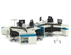 This 6 pack is designed for an open office environment where collaboration is a must! Office Furniture Warehouse, Flexible Furniture, Cubicles, Office Environment, Open Office, Panel Systems, Prefixes, Workspaces, Your Space