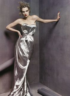 Natalia Vodianova by Steven Meisel for  Vogue - a beautiful dress. Maybe an alternative? #bloomingdalesprom