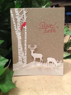 impression obsession merry tree die card ideas - Google Search