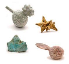 Alma Allen, bronze, mineral sculptures