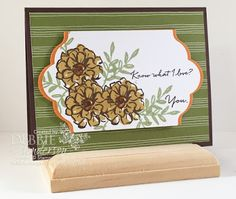 Stampin' Up! Sale-A-Bration 2016 products will be available January 5. I've used the What I Love stamp set and the Wildflower Fields Designer Paper on this card. Debbie Henderson, Debbie's Designs